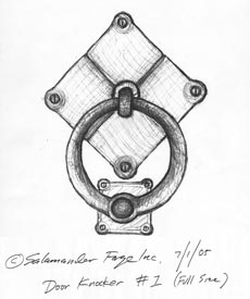 Door Knocker Drawing - the before